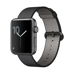 Apple Watch Series 2 (42mm Space Gray Aluminum with Black Woven Nylon Band)