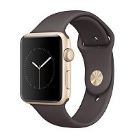 Apple Watch Series 2 (42mm Gold Tone Aluminum with Cocoa Sport Band)