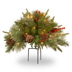 National Tree Company 18-in. Pre-Lit Artificial Pine Filler Decor
