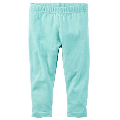 Girls 4-8 Carter's Aqua Capri Leggings