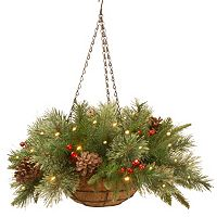 National Tree Company 20-in. Pre-Lit Artificial Pine Hanging Basket