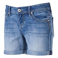 Juniors' Hydraulic Bailey Midi Jean Shorts