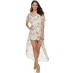Juniors' Lily Rose Off-The-Shoulder Floral Maxi Dress