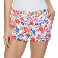 Juniors' SO® Chino Shortie Shorts