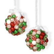 National Tree Company Glitter Ball Christmas Ornament 2-piece Set