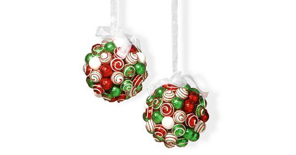 National Tree Company Glitter Ball Christmas Ornament 2