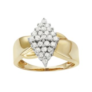 Sterling Silver 1/2 Carat T.W. Diamond Marquise Promise Ring