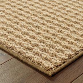 StyleHaven Seacrest Woven Stripe Indoor Outdoor Rug