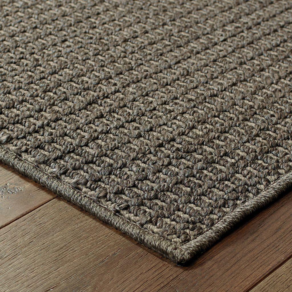 StyleHaven Seacrest Textured Solid Indoor Outdoor Rug