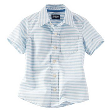 Boys 4-8 OshKosh B'gosh® Short Sleeve Stripe Button-Down Shirt
