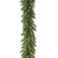 National Tree Company 9-ft. Pre-Lit Artificial Deerfield Fir Christmas Garland