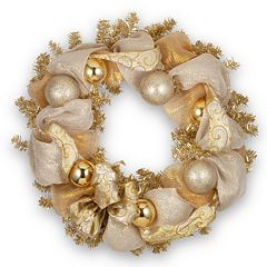 National Tree Company 27-in. Lace Ribbon & Tinsel Christmas Wreath