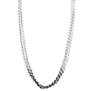 Simply Vera Vera Wang Tri Tone Multi Strand Chain Necklace