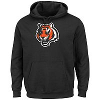 Men's Majestic Cincinnati Bengals Tek Patch Fleece Hoodie