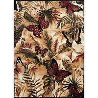 United Weavers Legends Butterfly Jungle Rug - 5'3'' x 7'2''