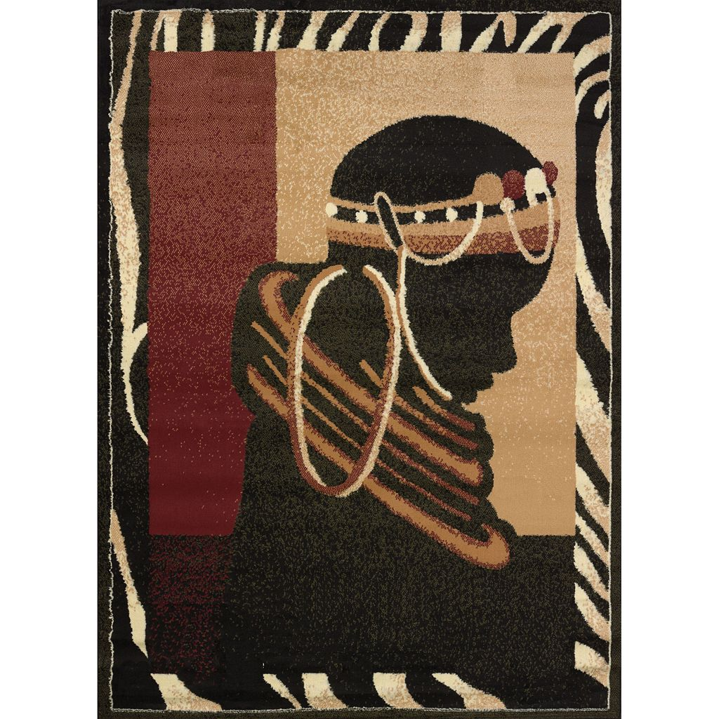 United Weavers Legends Silhouette Tribal Rug - 5'3'' x 7'2''