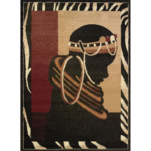 United Weavers Legends Silhouette Tribal Rug - 5'3'' x 7'2''