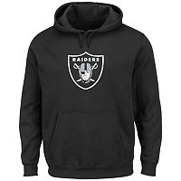 Men's Majestic Oakland Raiders Tek Patch Fleece Hoodie