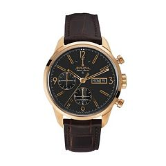 Bulova Men's Accu Swiss Automatic Leather Watch - 64C106