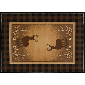 United Weavers Legends Antler Buck Rug - 5'3'' x 7'2''