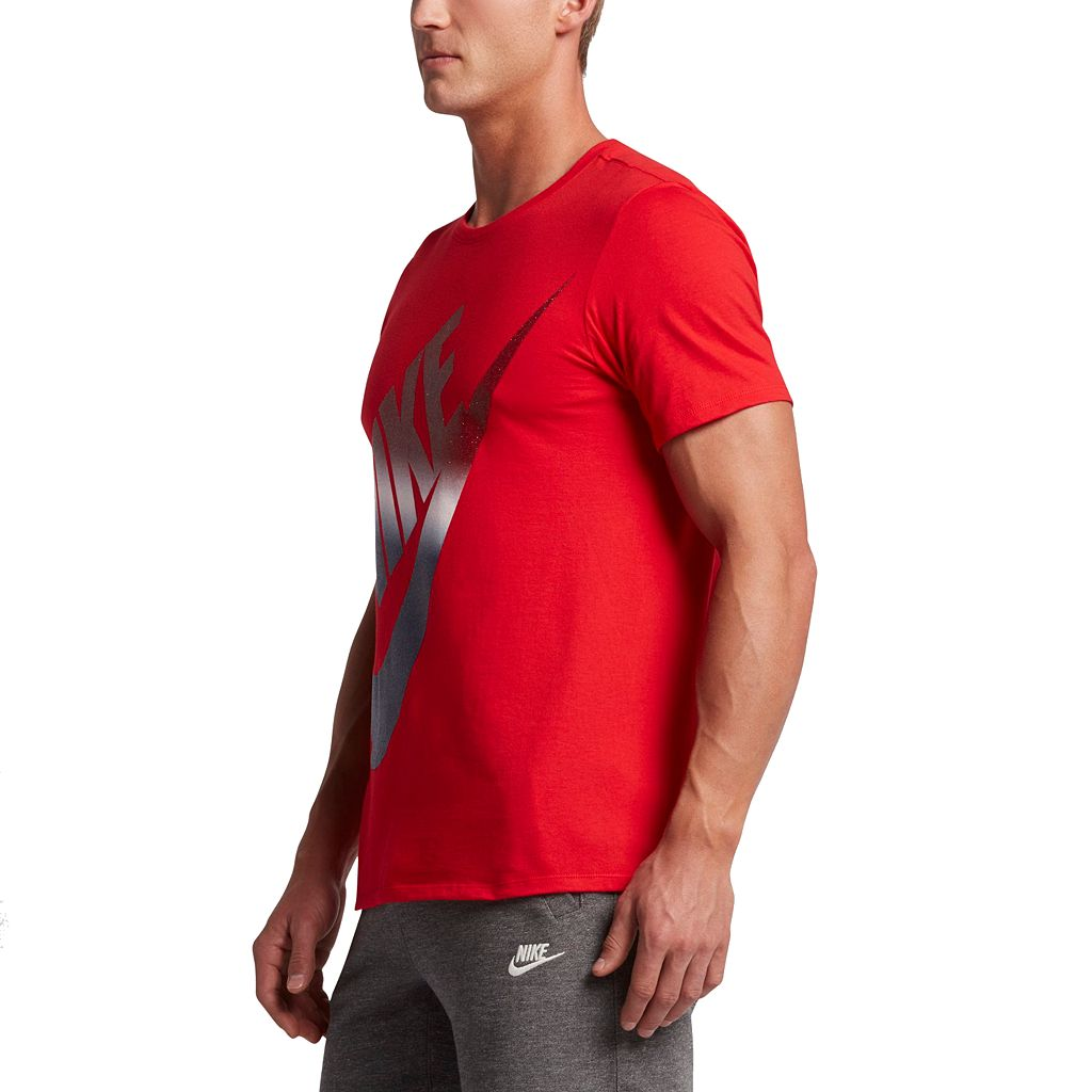 Men's Nike Red, White & Blue Logo Tee