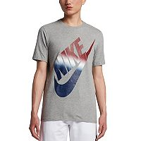 Men's Nike Red, White & Blue Logo Tee