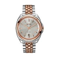 Bulova Men's Accu Swiss Automatic Two Tone Stainless Steel Watch - 65B159