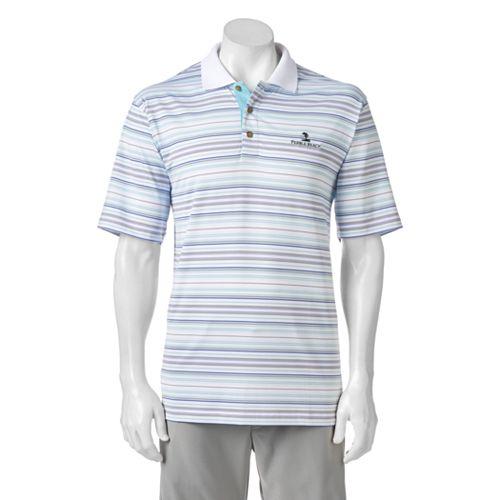 709c3efb40 Men's Pebble Beach Classic-Fit Striped Performance Golf Polo