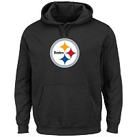 Men's Majestic Pittsburgh Steelers Tek Patch Fleece Hoodie