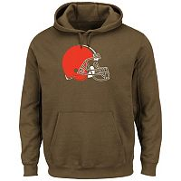 Men's Majestic Cleveland Browns Tek Patch Fleece Hoodie