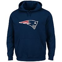 Men's Majestic New England Patriots Tek Patch Fleece Hoodie