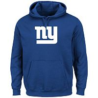 Men's Majestic New York Giants Tek Patch Fleece Hoodie