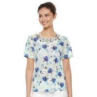 Women's Napa Valley Floral Knotted Top