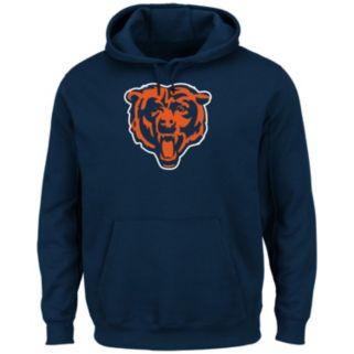 Men's Majestic Chicago Bears Tek Patch Fleece Hoodie