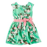 Girls 4-8 Carter's Floral Sateen Dress