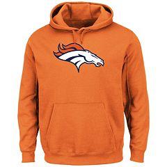 Men's Majestic Denver Broncos Tek Patch Fleece Hoodie