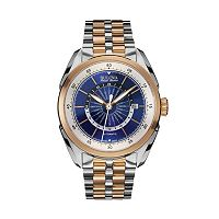 Bulova Men's Accu Swiss Automatic Two Tone Stainless Steel World Time Watch - 65B163