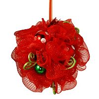 National Tree Company 16 in Ribbon Kissing Ball Wall Decor