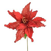 National Tree Company 26.5-in. Artificial Poinsettia Stem Filler Decor