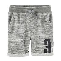 Boys 4-12 OshKosh B'gosh® Heathered French Terry Roll Cuff Shorts