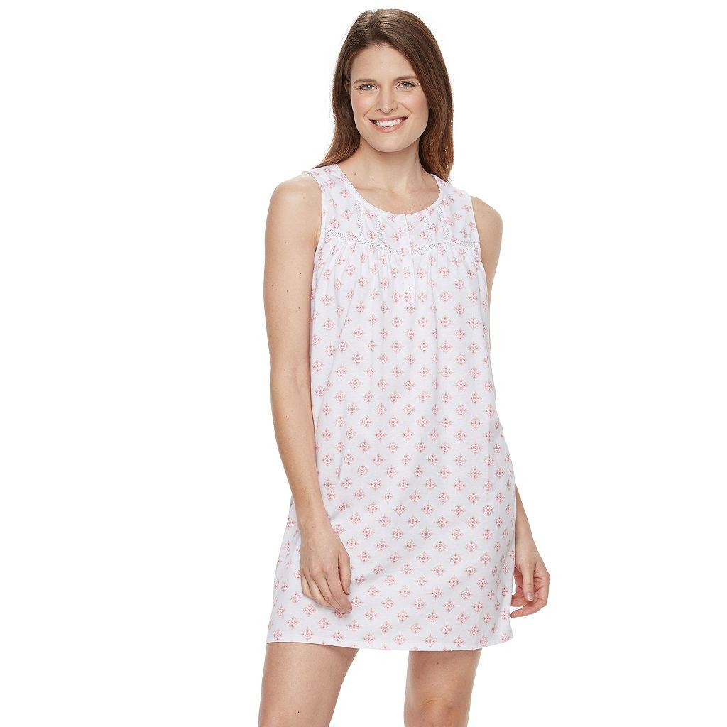 Women's Croft & Barrow® Pajamas: Crochet Nightgown