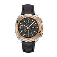 Bulova Men's Accu Swiss Automatic Leather Watch - 65B167