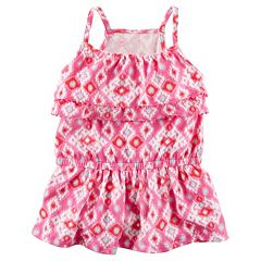 Girls 4-8 Carter's Tiered Geometric Tank Top