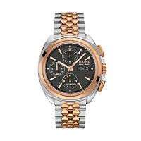 Bulova Men's Accu Swiss Automatic Two Tone Stainless Steel Watch - 65B168