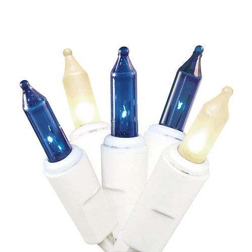 150 Light Chasing Blue & Clear Christmas Lights