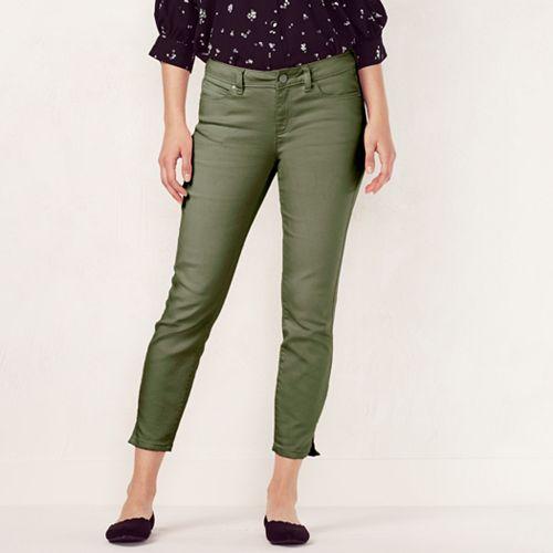 62ebf1cc524d97 Women s LC Lauren Conrad Colored Skinny Capri Jeans