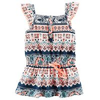 Girls 4-8 Carter's Tile Henley Tank Top