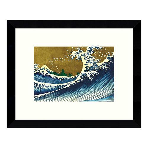 Big Wave (from 100 views of Mt. Fuji) Framed Wall Art