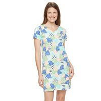 Women's Caribbean Joe Sea Shell T-Shirt Dress