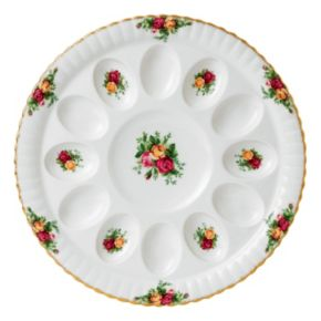 Royal Doulton Old Country Roses Deviled Egg Dish